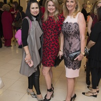 54 Kathryn Le, from left, Millette Sherman and Kim Moody at Houston Sweethearts at Saks February 2015