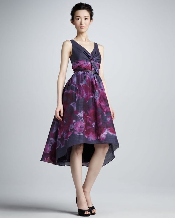 Lela Rose high-low watercolor dress from Neiman Marcus + Target collection