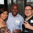 Patricia Ramirez, from left, Rafael Mercer and Phil Steuernagel at Casa de Esperanza Young Professionals party July 2014