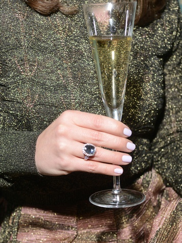 Raffle prize- Blue Tourmaline and Diamond Ring Donated by Nacol & Co. at the JDRF gala kick-off party January 2014