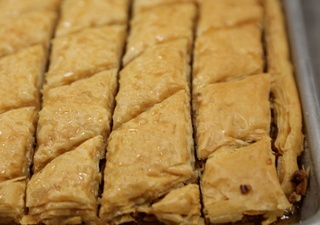 Baklava making video