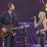 Blake Shelton in concert at RodeoHouston March 2014 and Miranda Lambert