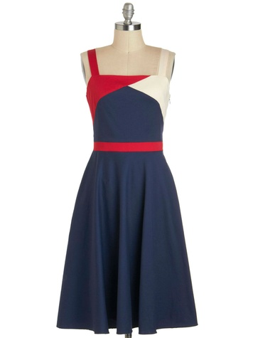 Modcloth Flag Down Your Ride Dress
