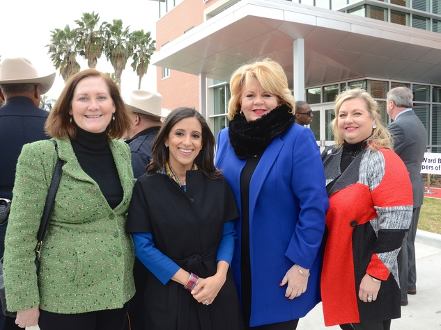 Diane Englet, Rania Mankarious, Brenda Stardig, Katrina Arnim at Crime Stoppers building dedication