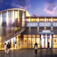 Main Street Theater's newly configured building rendering May 2013