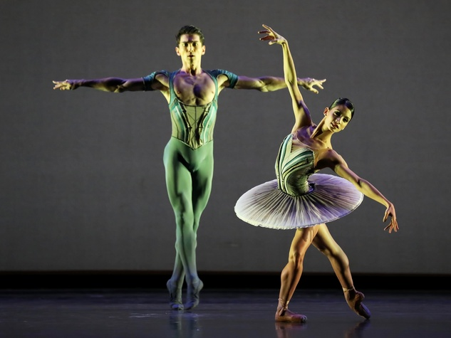 Houston Ballet, Son of Chamber Symphony, 9/16  Karina Gonzalez and Charles-Louis Yoshiyama