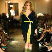 2 David Peck fashion show October 2014 model on runway 32c02ebc2e