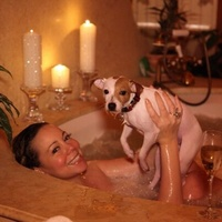 Mariah Carey bubble bath