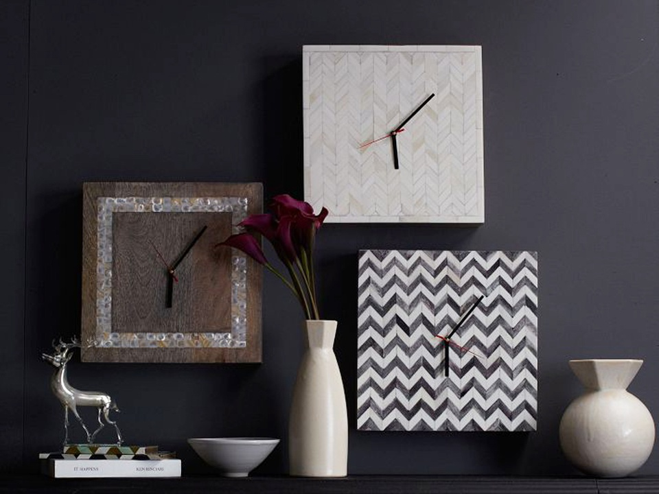 west elm Parsons wall clocks