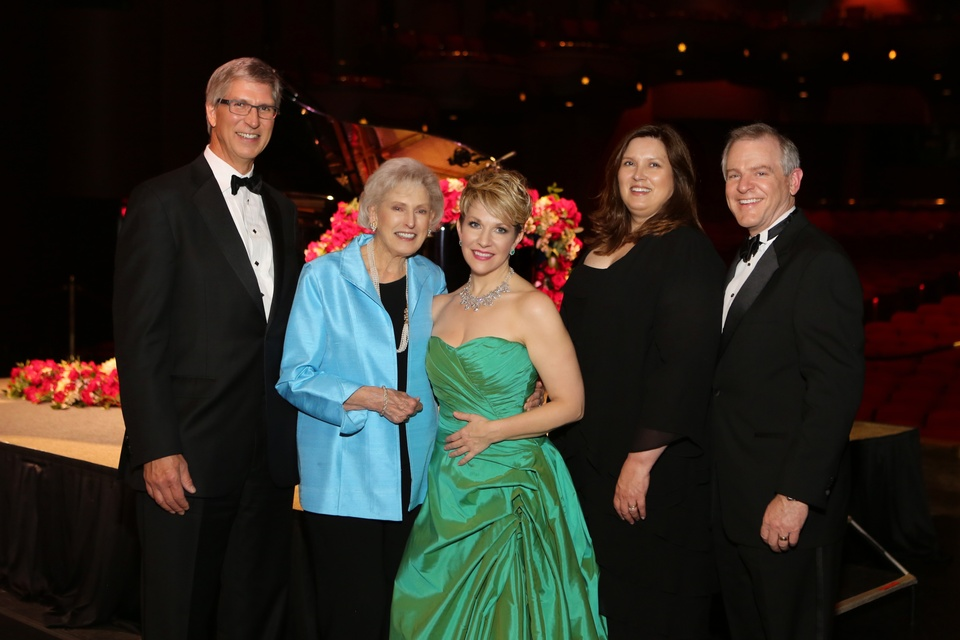 6400 Ken and Janice Borrow, from left, Joyce DiDonato and Barbara and Pat McCelvey at the Houston Grand Opera HGO 60th Anniversary March 2015
