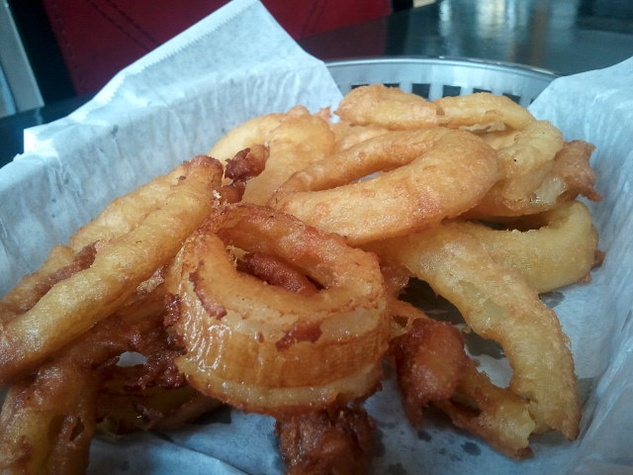 The Refinery, onion rings, french fries