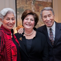 Jewish Family Services Houston 100th anniversary June 2013 Velva Levine, Linda Burger and Fred Levine