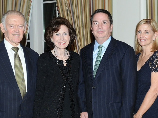 Lee and Annette Duggan, from left, Glenn and Susan Ballard and David Chaumette at the Houston Bar Association Harvest Celebration November 2013