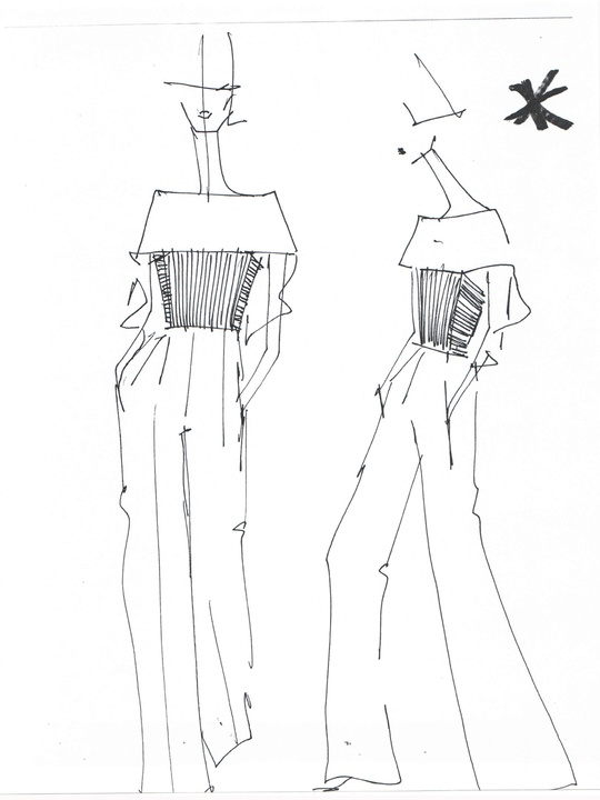 Designers' sketches fall 2014 collections Angel Sanchez