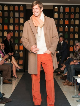 Neiman Marcus, men's event, Matthew Singer, September 2012, model, runway