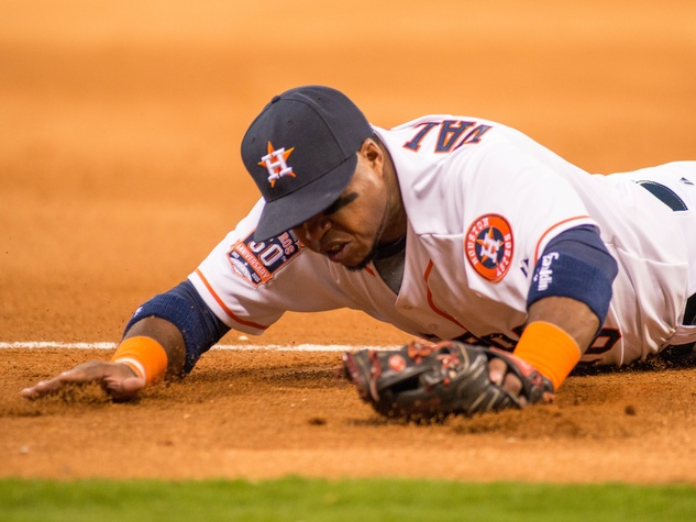 Astros dive third
