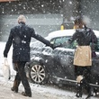 Bob Hogan and Carrie Colbert in New York City snow