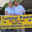 Connie Richards, Founder of Faithful Paws and Jim Flagg, Senior Pastor of Bellaiire United Methodist Church