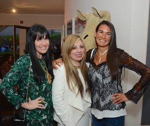 36 Tiffany Halik, from left, Karen Lix and Anne Burgot at the CultureMap Social at Gremillion and Co. Fine Art March 2015