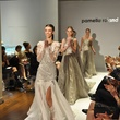 The grand finale at the Pamella Roland runway show at Elizabeth Anthony November 2014