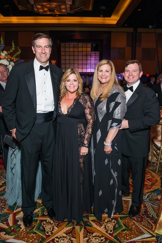 John and Kelli Weinzierl, from left, and DeeDee and Wallis Marsh at the Circle of Life Gala April 2015