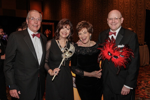 John Nau, from left, Roxann Neumann, Bobbie Nau and Tim Neumann at the Winter Ball January 2014