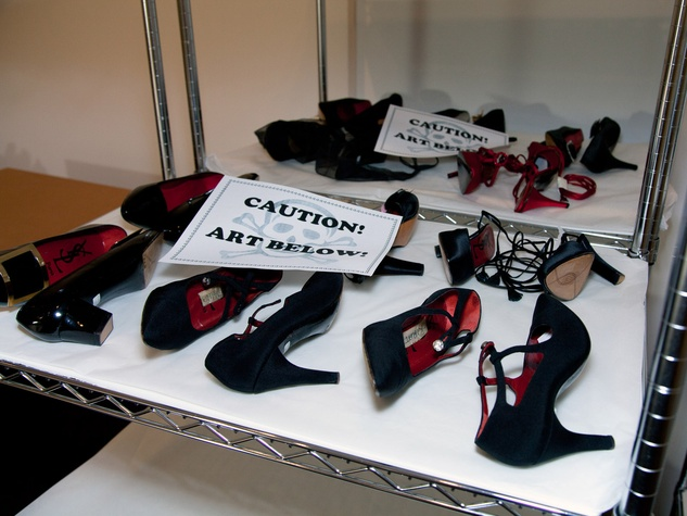 News_Donae Cangelosi Chramosta_Yves Saint Laurent_Denver Art Museum_March 2012_Behind the Scenes_shoes