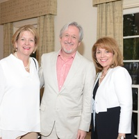 6 Challie Ralph, from left, Michael G. Imber and Robin Mueck at the Houston Design Center Spring Market pre-party at Lauren Rottet's home April 2014