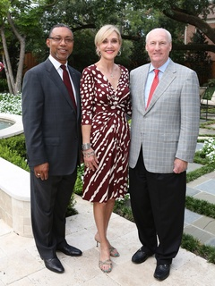 Kevin Lofton, left, with Jana and Scotty Arnoldy September 2013