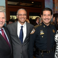 1 Chris Tritico, from left, Mustafa Tameez, Adrian Garcia and Jacquie Baly at the Fox 26 RoundUP Launch February 2014