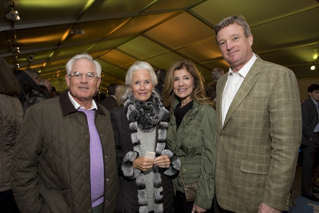 Stuart and Anne Coco, from left, and Carmela and Richard Lummis  at the Memorial Park Conservancy benefit February 2015