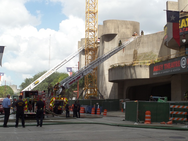 2 Alley Theatre fire Sept. 11, 2014