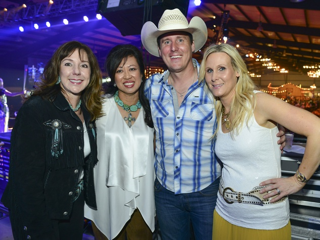 7 Elizabeth Stein, from left, Carol Beck, Matt Caldwell and Debbie Chenevert at the Cattle Barons Ball April 2014