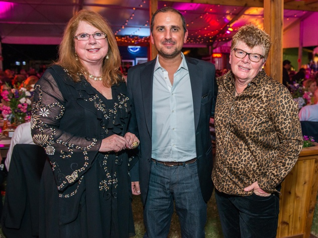 29 Joni Baird, from left, Filipe Silva and Susie Hebert at the Nature Conservancy 50th anniversary October 2014