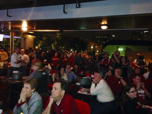 Alabama fans at watch party Nov 2013