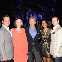 Will and Kate Stukenberg, from left,  Jonathon Glus and Divya and Chris Brown at HAA's Under The Blue Trees Pop-Up Party October 2013