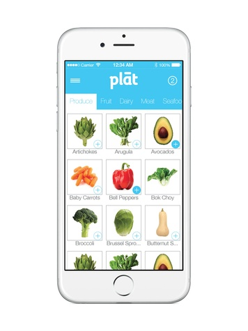 Plat grocery delivery app