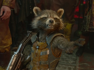 Rocket Raccoon in Guardians of the Galaxy