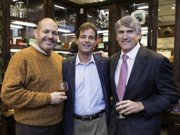 2 Shawn Hurwitz, from left, Larry Elliott and Mike Plank at the Valobra party December 2014