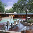On the Market 12020 Tall Oaks St. Frank Lloyd Wright house July 2014 swimming pool 2