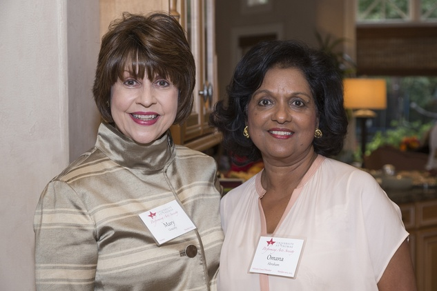 Mary Gracely, left, and Omana Abraham at the UST Houston Performing Arts Event November 2014.