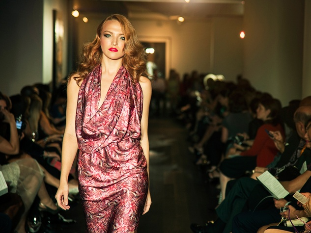 5 David Peck fashion show October 2014 model on runway
