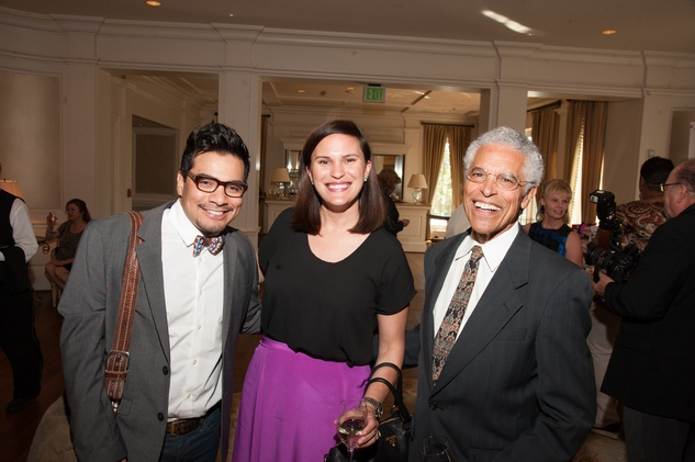 Edgar Medina, from left, Emily Metoyer and Ed Metoyer at the Foundation for Teen Health luncheon October 2014