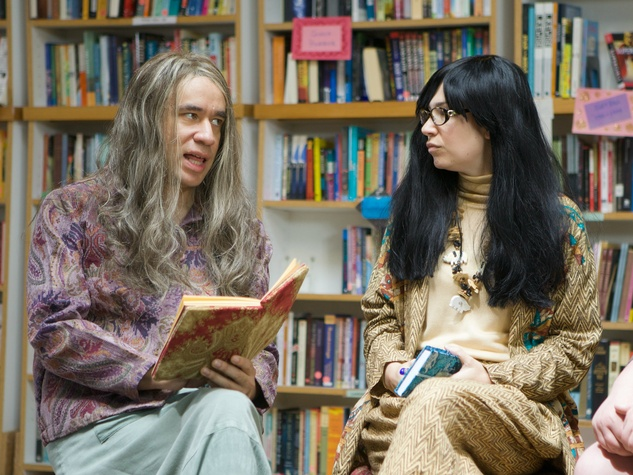 Fred Armisen and Carrie Brownstein as the bookstore owners in Portlandia