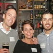 2 Jeff and Lauren Crone, from left, with Daniel Barron at the Preservation Houston Young Professionals party November 2013