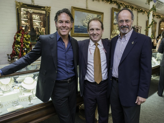 1 Alex Klein, from left, Franco Valobra and Bob Weiner at the Valobra party December 2014