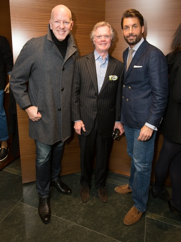 Rob Brinkley, Keith Nix and Josh Madden, zegna opening
