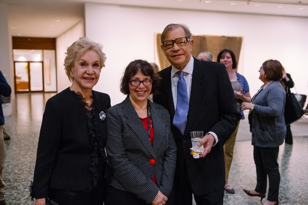 Pat York, Marian Luntz and Michael York at Museum of Fine Arts Houston