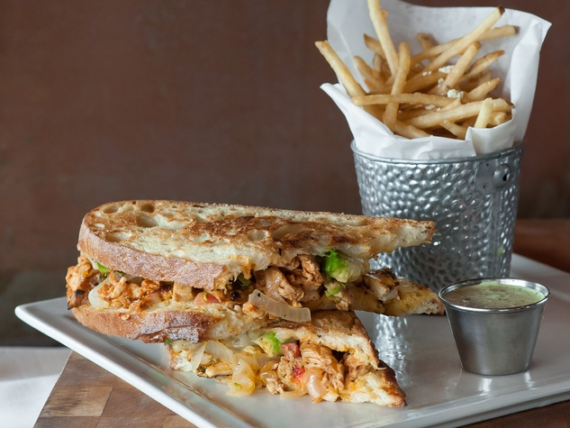 Amazon Grill new menu September 2013 the Cubano de Pollo sandwich with french fries