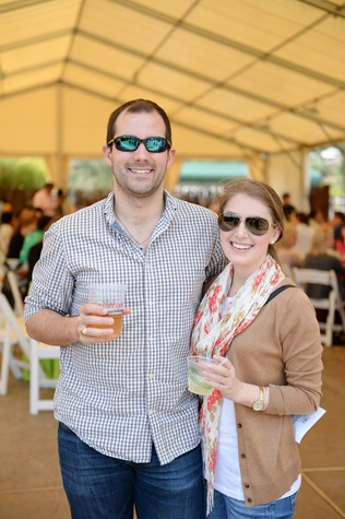 John Starnes and Kim Plumpton at Houston's Young Professionals Flock to a Beastly Brunch at the zoo February 2015